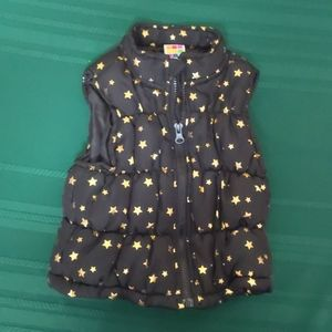 Healthtex Black with Gold Star Down Vest 24m